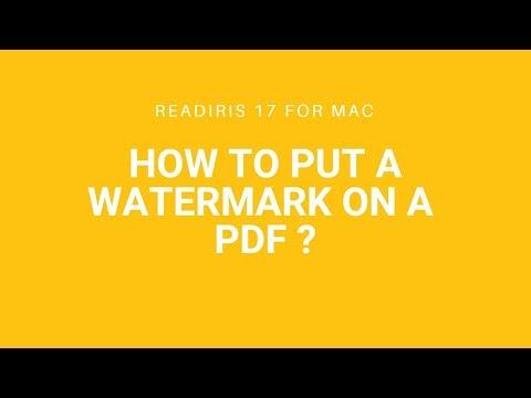 Readiris 17 Mac: Watermark on PDF
