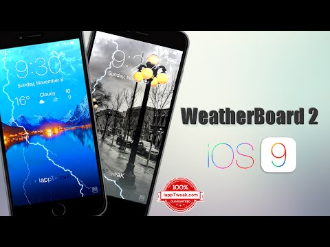 WeatherBoard 2 For iOS 9 adds weather forecast to your lockscreen, And More