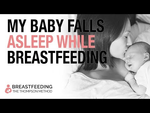 Is it normal for my baby to fall asleep while breastfeeding?