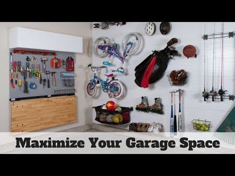 Garage Makeover  | Space Saving Ideas