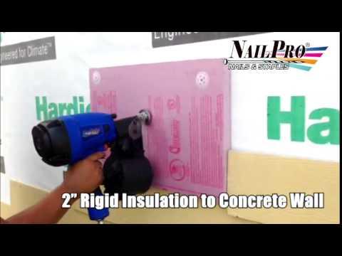 Rigid Insulation to Concrete Wall