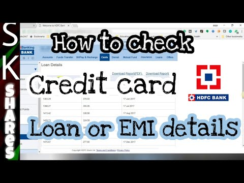How to check Loan or EMI details on your HDFC Credit Card using HDFC Netbanking