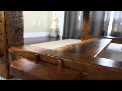 Reclaimed Wood Frame Tables