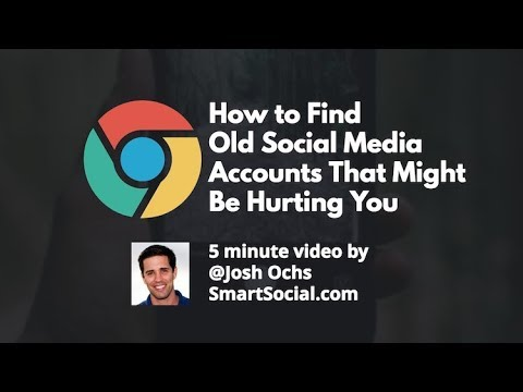 How to Find Old Accounts on Social Media PARENT UNIVERSITY TEASER