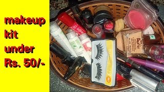 Complete makeup kit under rupees 50/- || Affordable makeup kit | Glamup with Madhu
