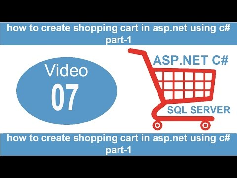 how to create shopping cart in asp net using c# part 1