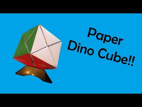 Dino Cube made out of paper