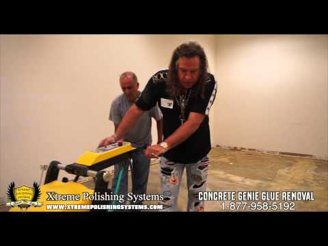 HOW-TO Mastic Removal, Thinset Removal, Glue Removal on Concrete Flooring