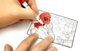 Spiderman Coloring Crayola Mini Coloring Pages Marvel Ultimate Spider-Man Fun Easy Learning For Kids