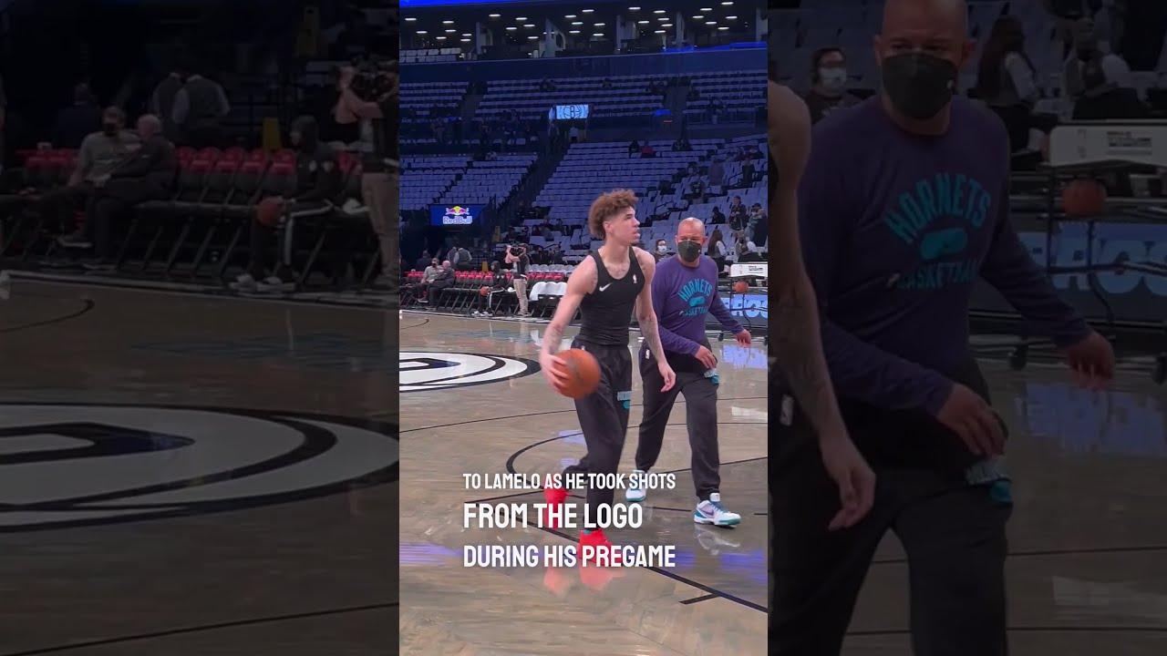 LaMelo Ball's street basketball moves during his NBA pregame routine!