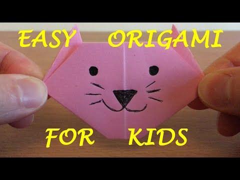 How to make a Paper Cat - Easy Origami for Kids