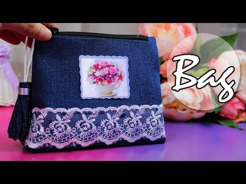 DIY PURSE BAG | JEANS BAG TUTORIAL FROM SCRATCH EASY WAY