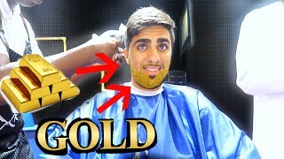 24 KARAT GOLD APPLICATION ON BEARD