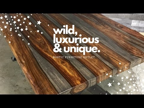 Rosewood industrial contemporary tables | Rustic Furniture Outlet