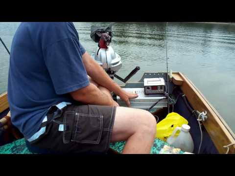 worlds coolest homemade Electric boat motor & pan fishing with Planer Bobbers