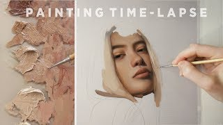 PAINTING TIME-LAPSE || Oil on paper