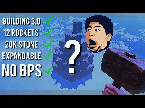 RUSTㆍHow To SURVIVE BUILDING 3.0 w/ NO BP's | 12 Rocket / 20K Stone Base