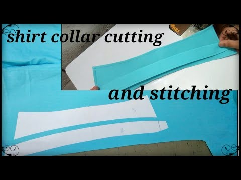 How to men's shirt collar ✂ cutting and stitching easy way // AL make fashion //