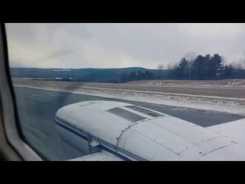 Cape Air takeoff from Lebanon, NH (LEB) to Boston, MA (BOS)