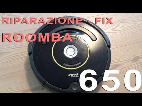 Riparazione Roomba 650 - Spostare roomba in una nuova posizione e premere clean per riavviare