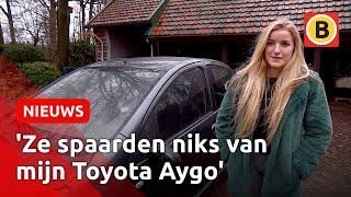 Emma (24) ziet hoe kinderen haar auto compleet vernielen: 'Ze spaarden niks van mijn Toyota Aygo'