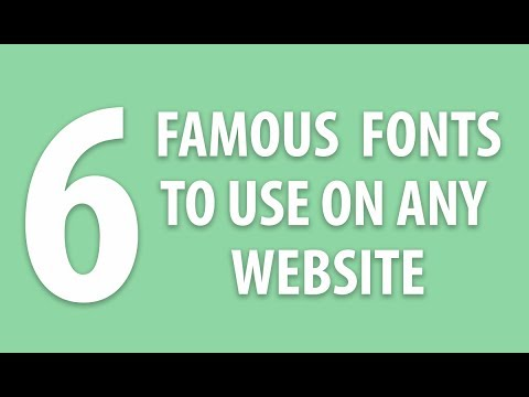6 Famous Fonts To Use On Any Website | XO PIXEL