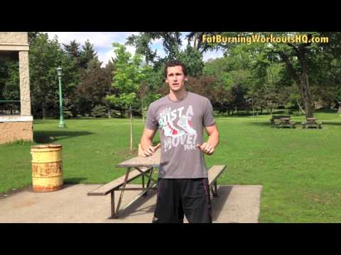 Fat Burning Push Up and Squat Combo