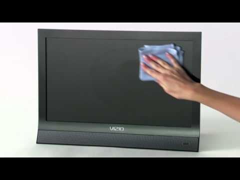 How to Clean LCD & Plasma Flat Screen TVs with eScreen
