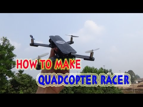 How To make a Mini Racer Quadcopter use Popsicle sticks