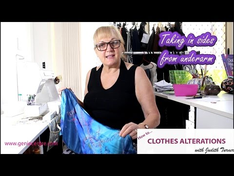 Take in sides dress correctly from underarm