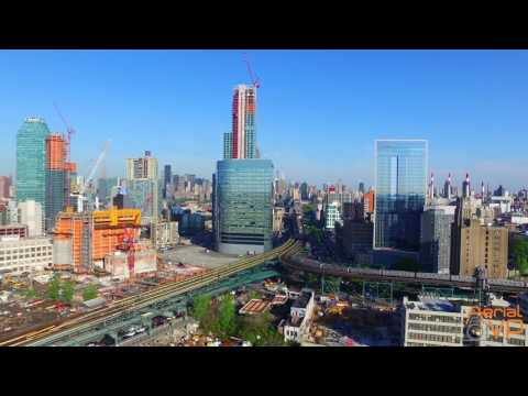 Drone View of Long Island City 2016 Before & After 4K