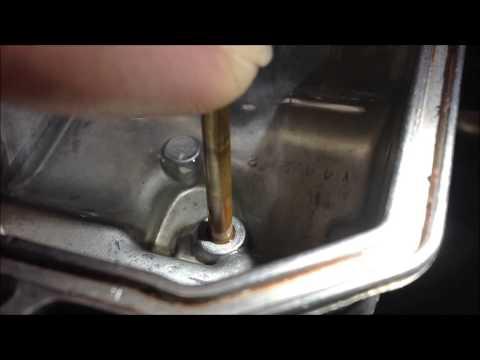 How to repair a leaking caburetor float bowl