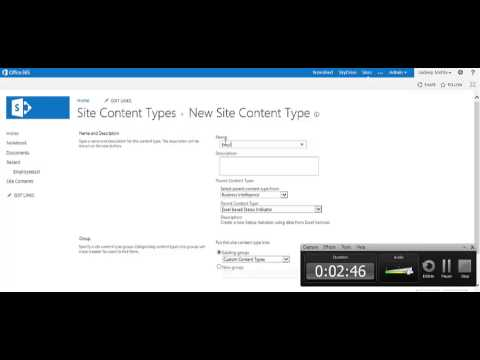 Creating content type and attaching multiple content types to sharepoint 2013 list