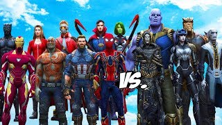 Download AVENGERS & GUARDIANS OF THE GALAXY VS THANOS & BLACK ORDER - INFINITY BATTLE Video