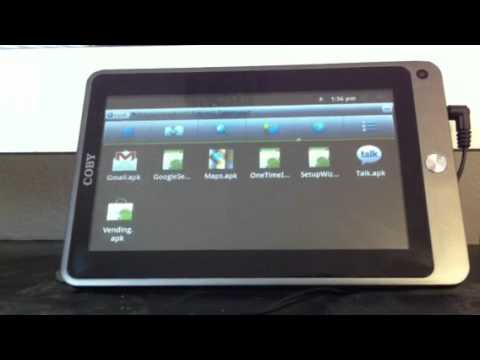 How install android market on coby Kyros 7022