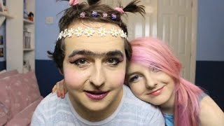 My Girlfriend Does My Makeup Again