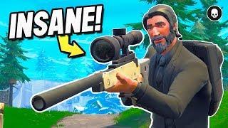 *insane* Snipers Only! (fortnite Battle Royale : Sniper Shootout V3 Gameplay)
