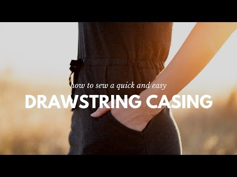 How to Sew a Drawstring Dress Casing | DIBY Club