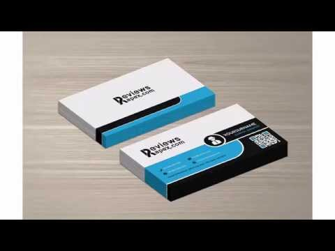 Free Download Black White & Blue Business Card & Mockup Template