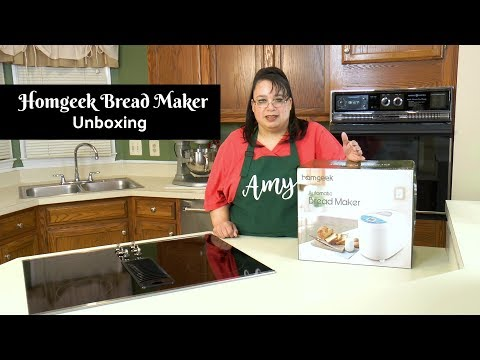Bread Machine Unboxing ~ Homgeek Bread Maker ~ Amy Learns to Cook