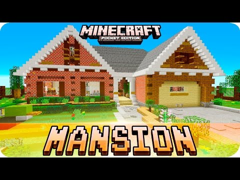 Minecraft PE Maps - 🏠 MANSION House Tour with Map Download - MCPE 0.16.0 / 1.0 / 0.17.0