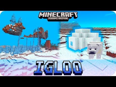 Minecraft PE Seeds - 2 IGLOOS, Floating Island and 5 VILLAGES! MCPE 1.2 / 1.1