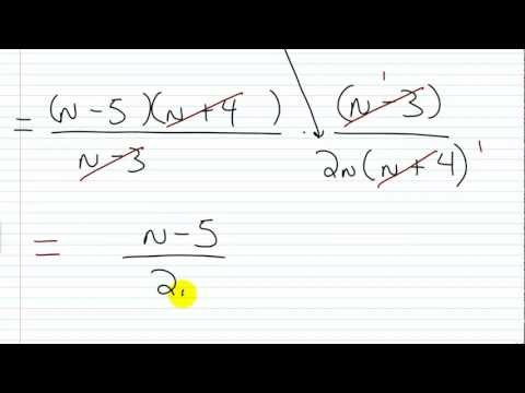 How to Divide Rational Expressions