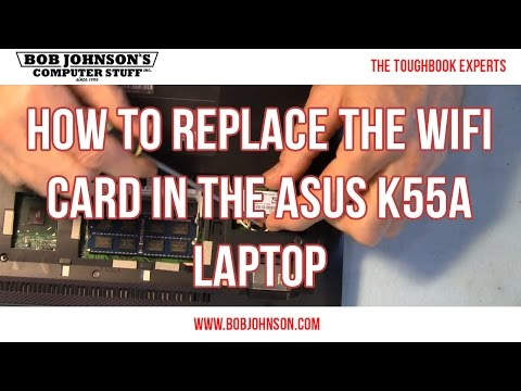 How to replace the WIFI Card in the ASUS K55A Laptop