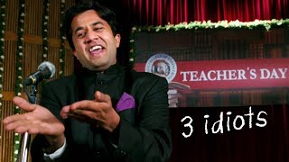 Chatur's Chamatkar Speech - 3 Idiots | Epic Comedy Scene | Omi Vaidya | Aamir Khan, Boman Irani