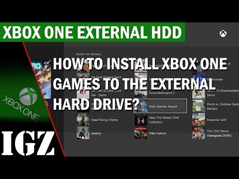 How to Install Xbox One Games to the External HDD