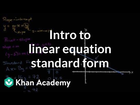 Standard form for linear equations | Algebra I | Khan Academy