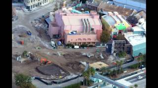 Aerial View of Construction of Star Wars Land & Toy Story Land - DHS Update #16