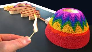 🔥🌋MATCH CHAIN REACTION🚀😱 Color Sparklers DOMINO: 1 MILLION Celebration ERUPTION