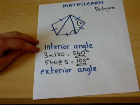 The trick to finding Interior and Exterior angles easily - GCSE Maths revision video